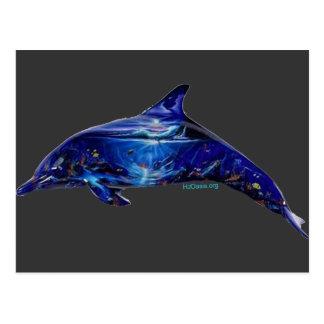 Mural en delfín tarjeta postal