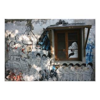 Mural en la casa, Taipei, Taiwán Fotografías