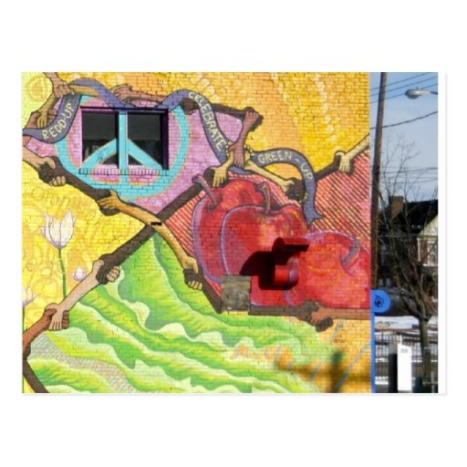 Mural en PA de Pitttsburgh (área del este de la Postal