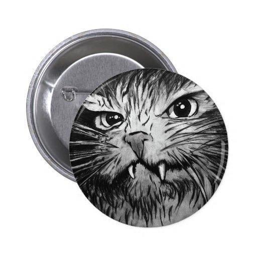 Mural enojado del gato pin