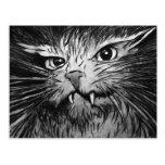 Mural enojado del gato tarjeta postal