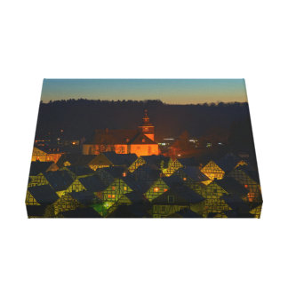 Mural Freudenberg old part of town Canvas Print