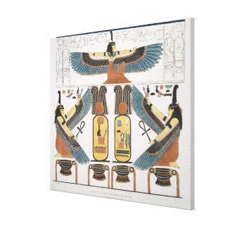 Mural from the Tombs of the Kings at Thebes, disco Canvas Print
