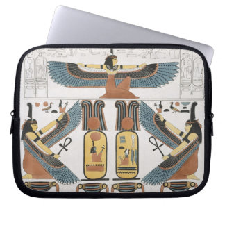 Mural from the Tombs of the Kings at Thebes, disco Computer Sleeve