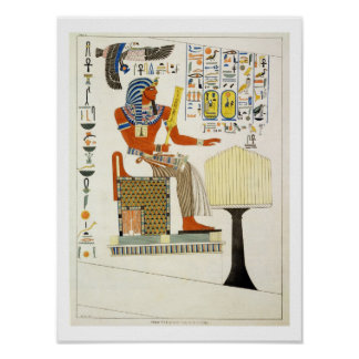 Mural from the Tombs of the Kings of Thebes, disco Poster
