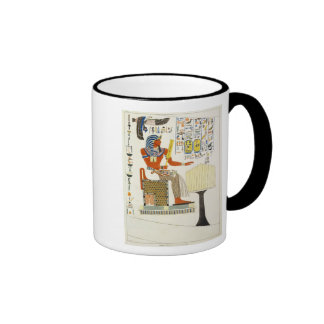 Mural from the Tombs of the Kings of Thebes, disco Ringer Mug