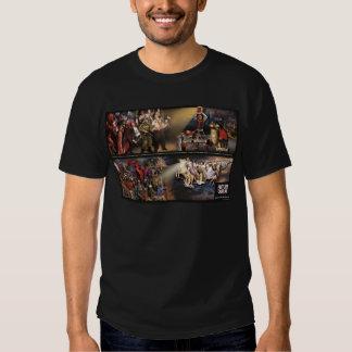 Mural futuro del temblor/camisa de lujo de la playeras