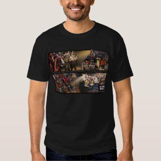 Mural futuro del temblor/logotipo clásico camisas