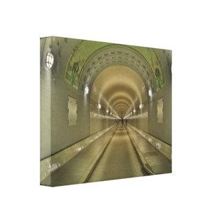 Mural Hamburg of old Elbe tunnels Canvas Print