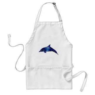 Mural In Dolphin Adult Apron