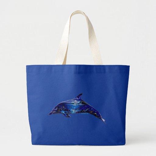 Mural In Dolphin Jumbo Tote Bag
