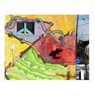 Mural in Pitttsburgh PA (East Liberty area) Postcard