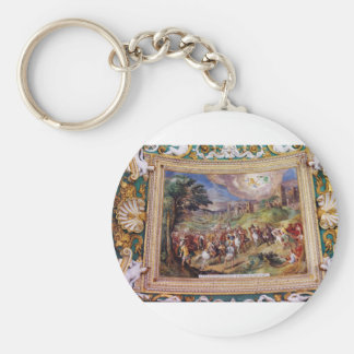 Mural in the Vatican Museum Keychain