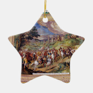Mural in the Vatican Museum Double-Sided Star Ceramic Christmas Ornament