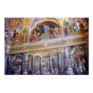 Mural in the Vatican Museum Postcard
