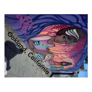 Mural in West Oakland California Postcard