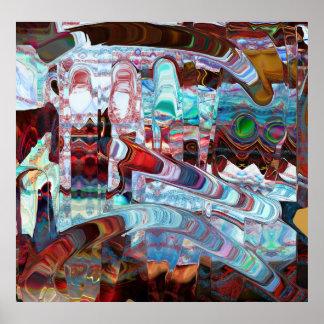 Mural maya póster