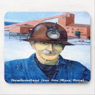 Mural Mousepad del minero de Terranova Tapetes De Ratones