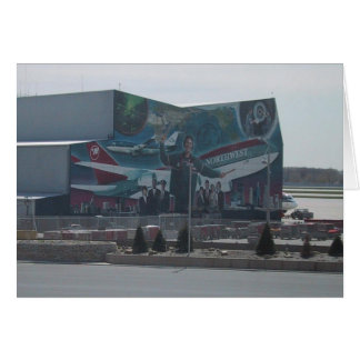 Mural Of Northwest Airlines On A Service Building Card