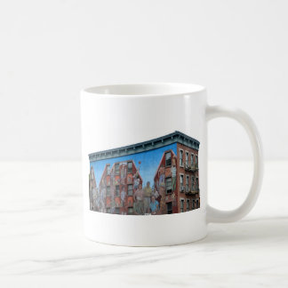 Mural on building in Spanish Harlem Coffee Mug
