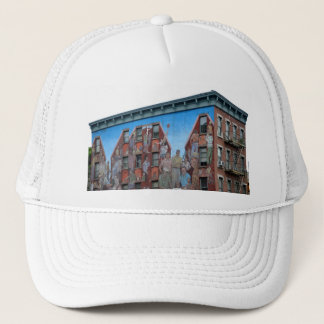Mural on building in Spanish Harlem Trucker Hat