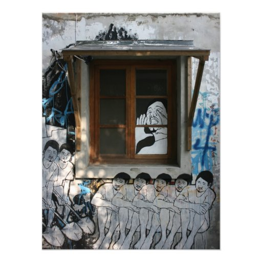 Mural on house, Taipei, Taiwan Photo Print