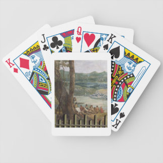 Mural painting from Drakelowe Hall nr Burton on Bicycle Poker Cards