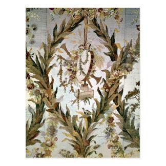Mural silk of the Empress' Bedroom, 1787 Postcard