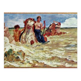 Mural Villa Albers: Sea-Gods In The Surf By Klinge Postcard