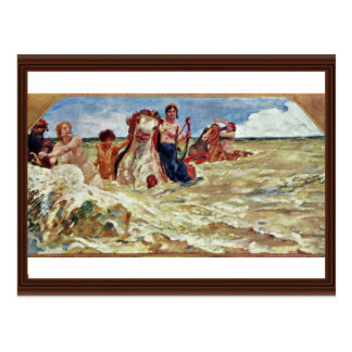 Mural Villa Albers: Sea-Gods In The Surf By Klinge Post Cards
