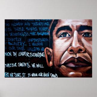 Mural y discurso, Brooklyn, Nueva York de Barack O Posters