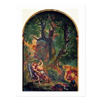 Murales del Santo-Sulpice en la capilla de París Tarjeta Postal
