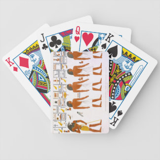 Murals from the Tombs of the Kings at Thebes, disc Bicycle Playing Cards