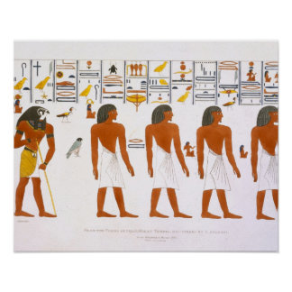 Murals from the Tombs of the Kings at Thebes, disc Poster
