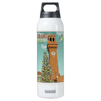 Murano Camapnile and Glass Tree Insulated Water Bottle
