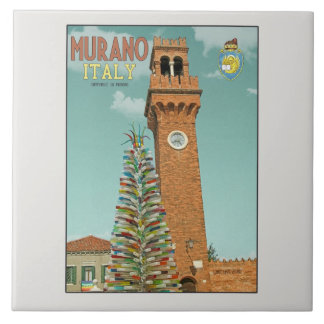 Murano Camapnile and Glass Tree Tiles