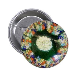 Murano glass paperweight, Italian Pinback Button