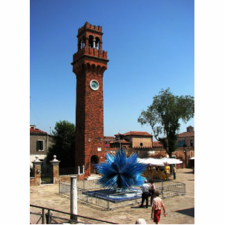 Murano, Italy Clock tower and Glass sculpture
