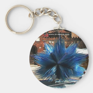 Murano, Italy Clock tower and Glass sculpture Keychain