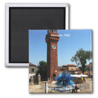 Murano, Italy Clock tower and Glass sculpture Magnet