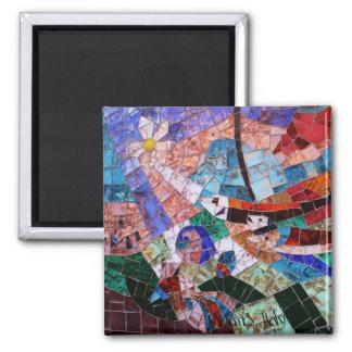 Murano Mosaic 2 Inch Square Magnet