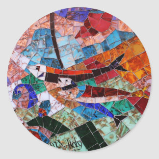 Murano Mosaic Classic Round Sticker