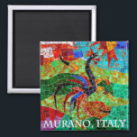 """Murano Mosaic II Magnet<br><div class=""""desc"""">History of Murano glassmaking Murano's reputation as a center for glassmaking was born when the Venetian Republic, fearing fire and destruction to the city's mostly wood buildings, ordered glassmakers to move their foundries to Murano in 1291. Murano glass is still interwoven with Venetian glass. Murano&#39;s glassmakers were soon the island's...</div>"""