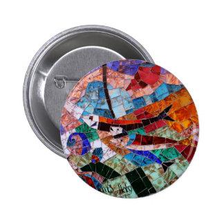 Murano Mosaic Pinback Button