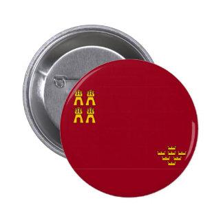 murcia region flag spain province pinback button
