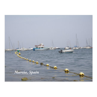 Murcia, Spain boats in the harbour Postcard
