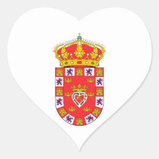 Murcia (Spain) Coat of Arms Heart Sticker
