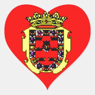 Murcia (Spain) Flag Heart Sticker