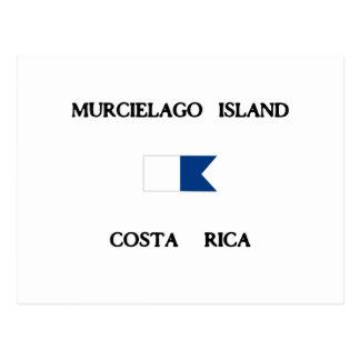 Murcielago Island Costa Rica Alpha Dive Flag Postcard