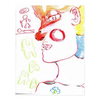 Murder As a Clown Postcard